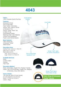 Sports Ripstop with Peak Embroidery (4043) 1 | | Promotion Wear