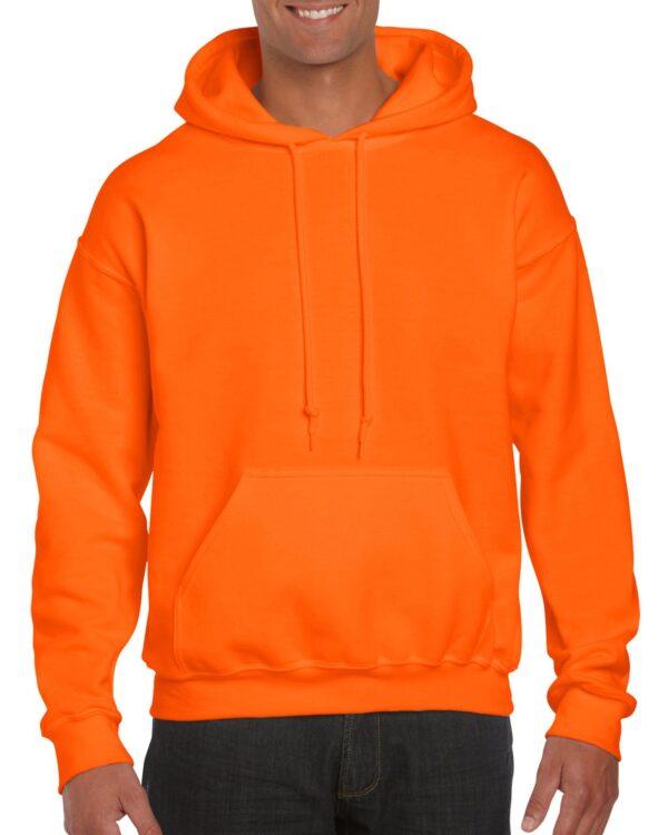 Gildan Dryblend Adult Hooded Sweatshirt Safety Orange Xlarge (12500) 1 | | Promotion Wear
