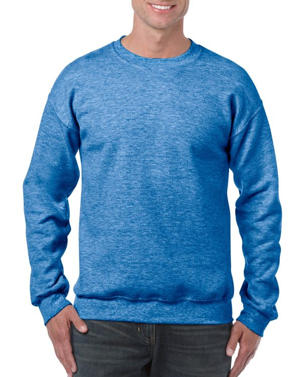 Gildan Heavy Blend Adult Crewneck Sweatshirt Heather Sport Royal Large (18000) 1 | | Promotion Wear