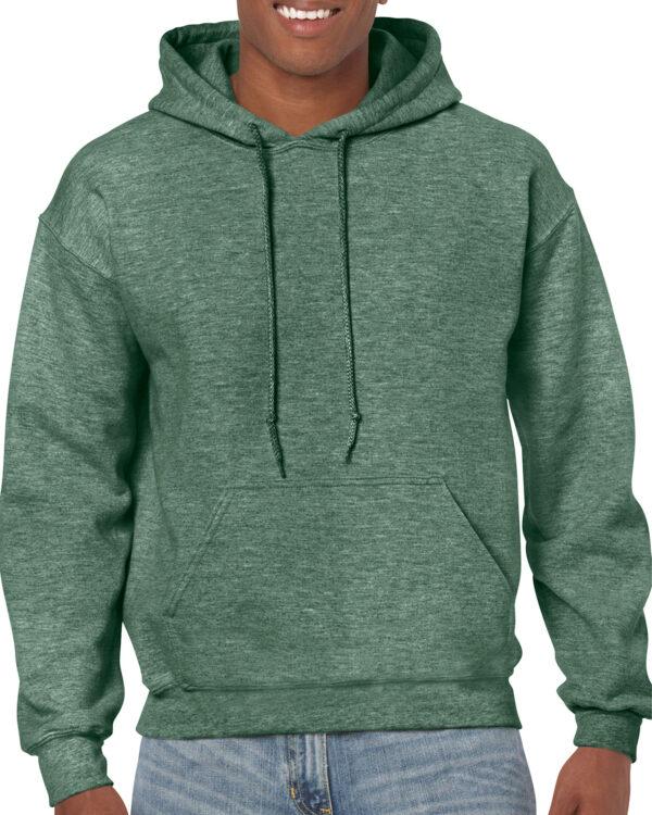 Gildan Heavy Blend Adult Hooded Sweatshirt Heather Sport Dark Green Large (18500) 1 | | Promotion Wear