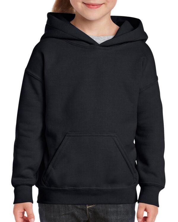 Gildan Heavy Blend Youth Hooded Sweatshirt Black Large (18500B) 1 | | Promotion Wear