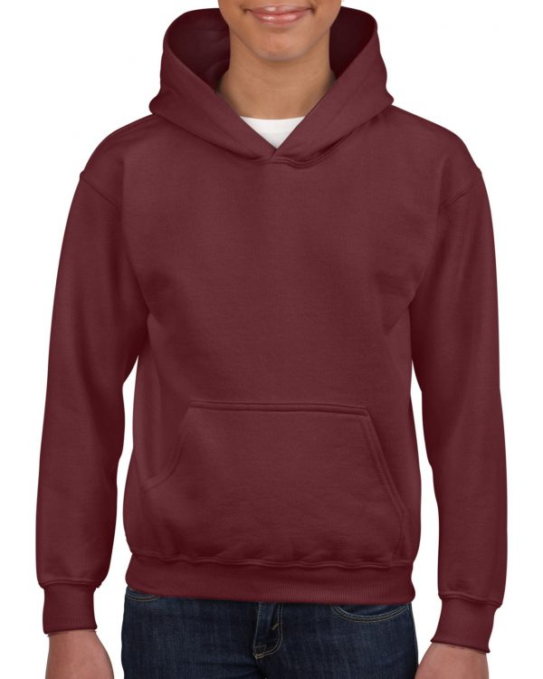 Gildan Heavy Blend Youth Hooded Sweatshirt Maroon Small (18500B) 1 | | Promotion Wear