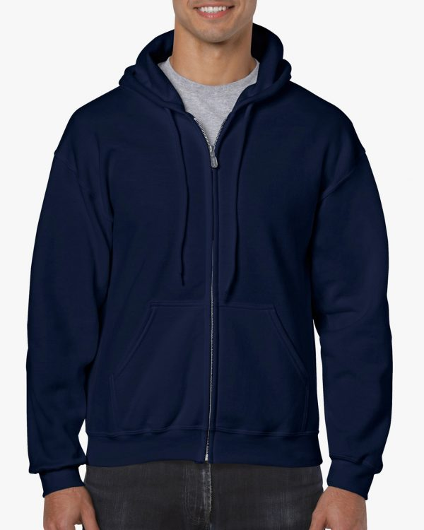 Gildan Heavy Blend Adult Full Zip Hooded Sweatshirt Navy Large (18600) 1 | | Promotion Wear