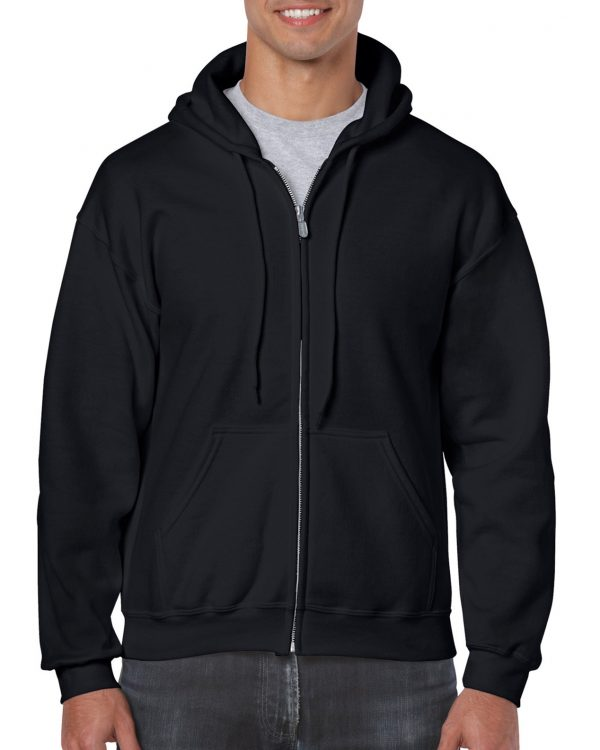Gildan Heavy Blend Adult Full Zip Hooded Sweatshirt Black Medium (18600) 1 | | Promotion Wear