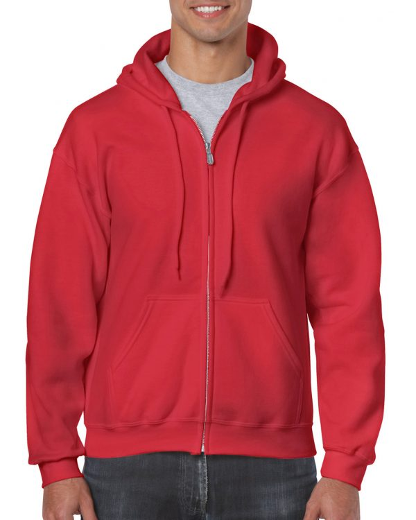 Gildan Heavy Blend Adult Full Zip Hooded Sweatshirt Red Xlarge (18600) 1 | | Promotion Wear