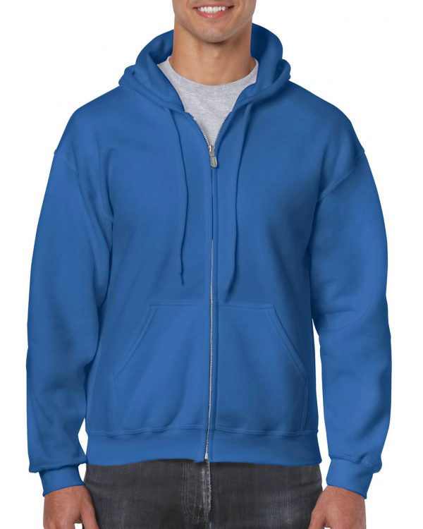Gildan Heavy Blend Adult Full Zip Hooded Sweatshirt Royal Small (18600) 1 | | Promotion Wear