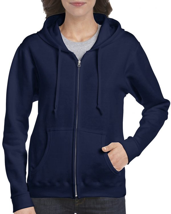 Gildan Heavy Blend Ladies' Full Zip Hooded Sweatshirt Navy Large (18600FL) 1 | | Promotion Wear