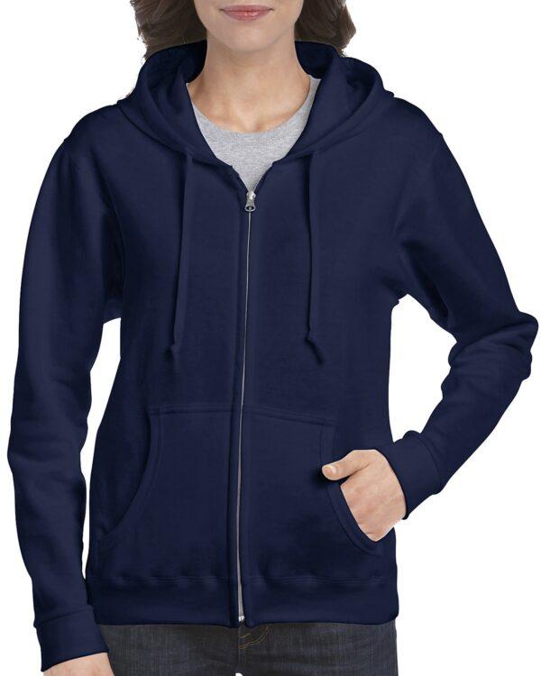 Gildan Heavy Blend Ladies' Full Zip Hooded Sweatshirt Navy Xlarge (18600FL) 1 | | Promotion Wear