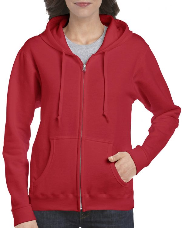 Gildan Heavy Blend Ladies' Full Zip Hooded Sweatshirt Red Xlarge (18600FL) 1 | | Promotion Wear