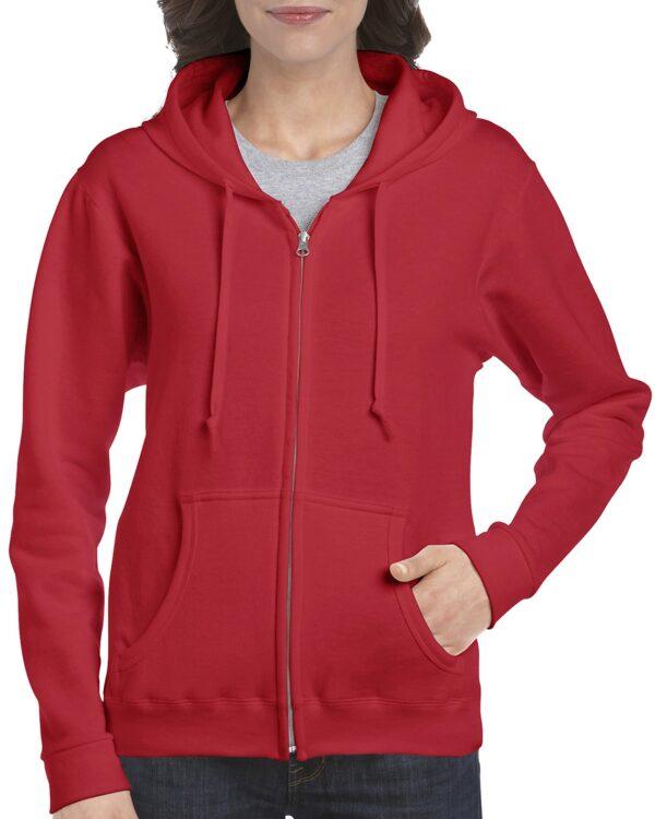 Gildan Heavy Blend Ladies' Full Zip Hooded Sweatshirt Black Xlarge (18600FL) 1 | | Promotion Wear