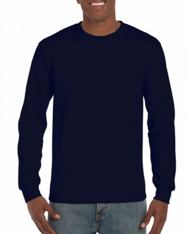Gildan Ultra Cotton Adult Long Sleeve T-Shirt Navy 3Xlarge (2400) 1 | | Promotion Wear