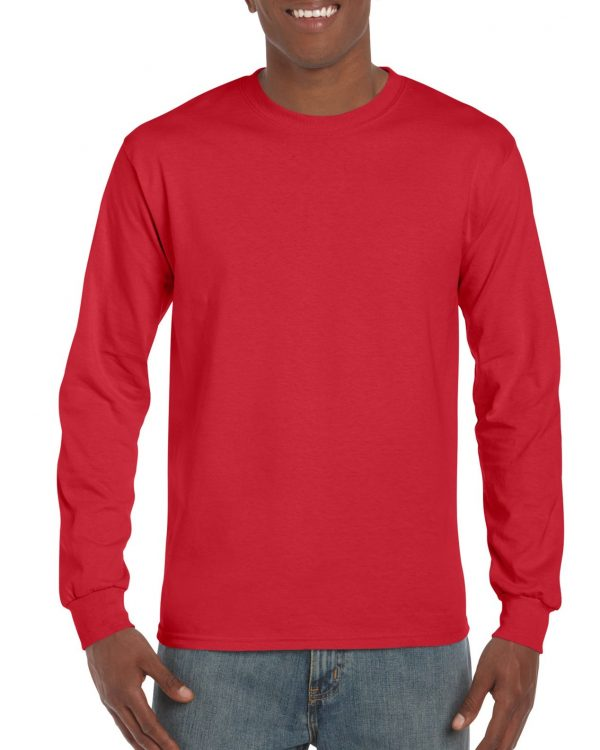 Gildan Ultra Cotton Adult Long Sleeve T-Shirt Red Medium (2400) 1 | | Promotion Wear