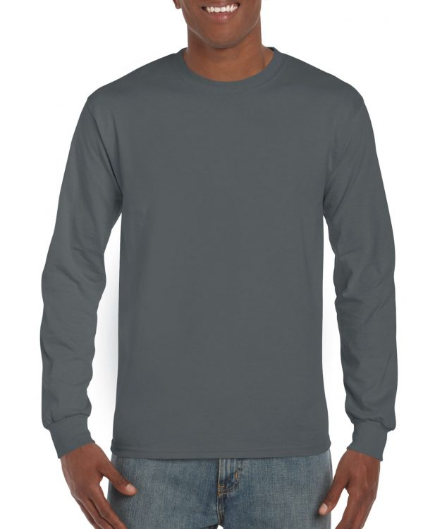 Gildan Ultra Cotton Adult Long Sleeve T-Shirt Charcoal Large (2400) 1 | | Promotion Wear