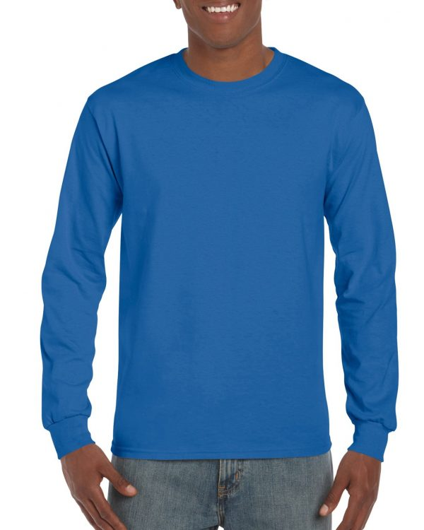Gildan Ultra Cotton Adult Long Sleeve T-Shirt Royal Small (2400) 1 | | Promotion Wear