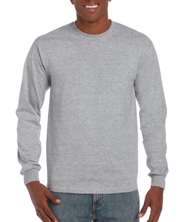 Gildan Ultra Cotton Adult Long Sleeve T-Shirt Sport Grey Medium (2400) 1 | | Promotion Wear