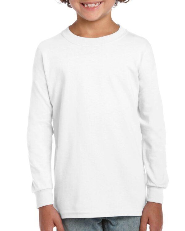 Gildan Ultra Cotton Youth Long Sleeve T-Shirt White Medium (2400B) 1 | | Promotion Wear