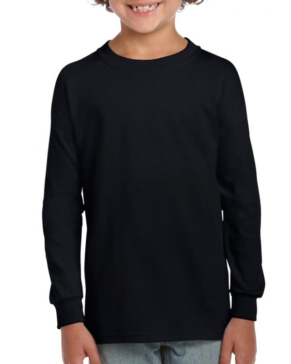 Gildan Ultra Cotton Youth Long Sleeve T-Shirt Black Small (2400B) 1 | | Promotion Wear