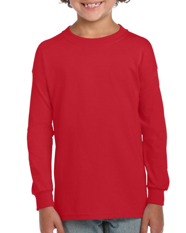 Gildan Ultra Cotton Youth Long Sleeve T-Shirt Red Small (2400B) 1 | | Promotion Wear