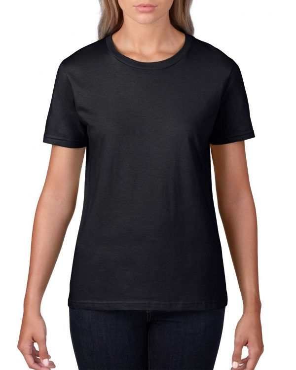 Gildan Premium Cotton Ladies' T-Shirt Black Xlarge ((4100L) 1 | | Promotion Wear