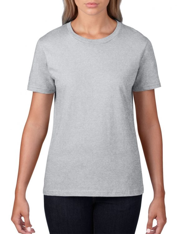 Gildan Premium Cotton Adult T-Shirt Sports Grey Medium ((4100) 1 | | Promotion Wear