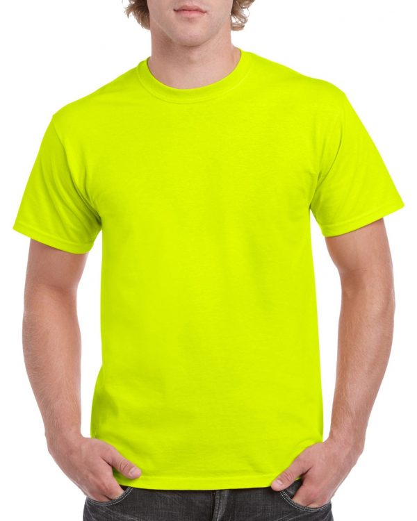 Gildan Heavy Cotton Adult T-Shirt Safety Green Small (5000) 1 | | Promotion Wear