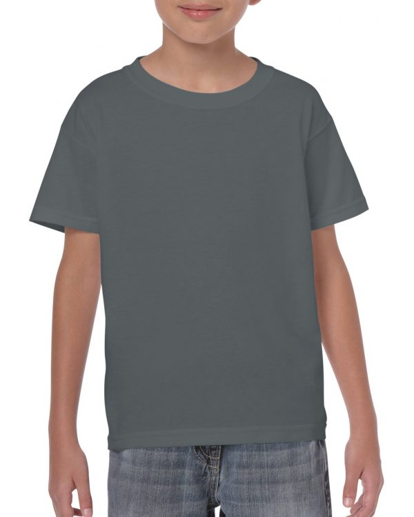 Gildan Heavy Cotton Youth T-Shirt Charcoal Xsmall (5000B) 1     Promotion Wear