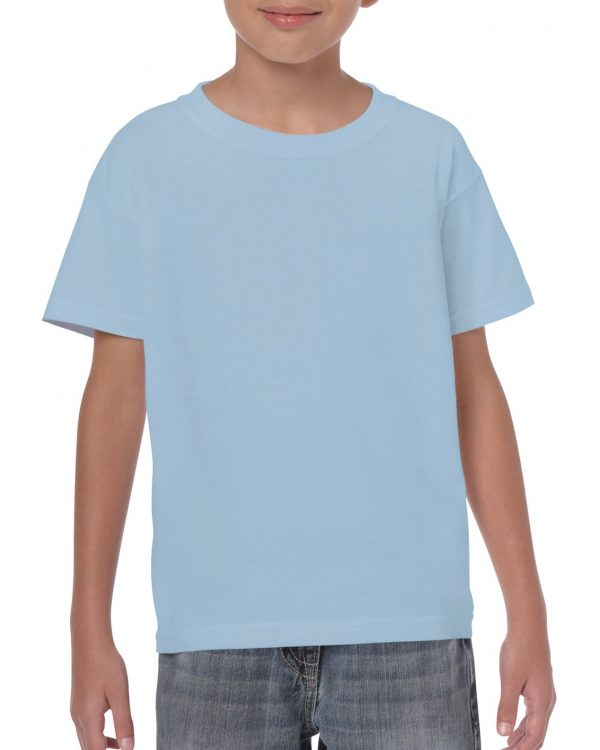 Gildan Heavy Cotton Youth T-Shirt Light Blue Large (5000B) 1 | | Promotion Wear