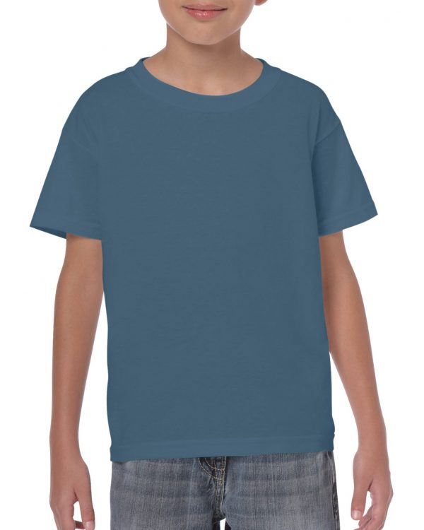 Gildan Heavy Cotton Youth T-Shirt Indigo Blue Medium (5000B) 1 | | Promotion Wear