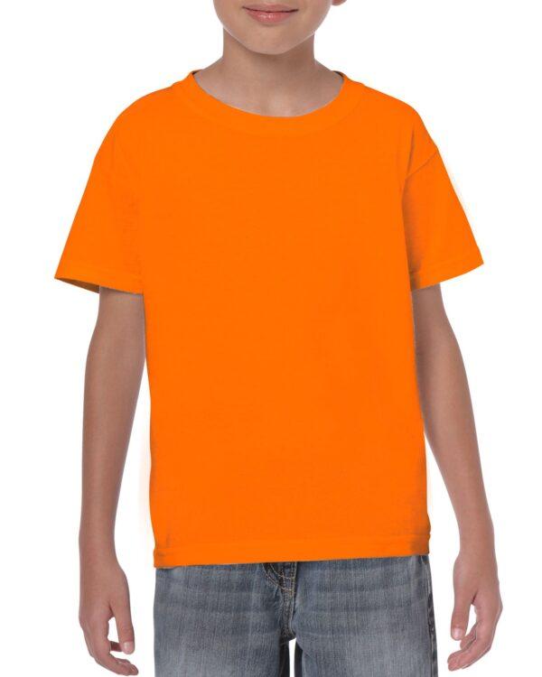 Gildan Heavy Cotton Youth T-Shirt Safety Orange Xsmall (5000B) 1     Promotion Wear