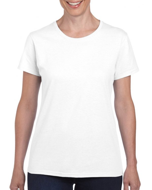 Gildan Heavy Cotton Ladies' T-Shirt White Medium (5000L) 1 | | Promotion Wear