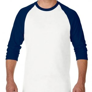 Gildan Heavy Cotton Adult 3/4 Raglan T-Shirt White / Navy Large (5700) 8 | | Promotion Wear