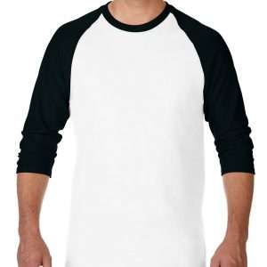 Gildan Heavy Cotton Adult 3/4 Raglan T-Shirt White / Black Large (5700) 2 | | Promotion Wear