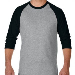 Gildan Heavy Cotton Adult 3/4 Raglan T-Shirt Sports Grey / Black Large (5700) 2 | | Promotion Wear