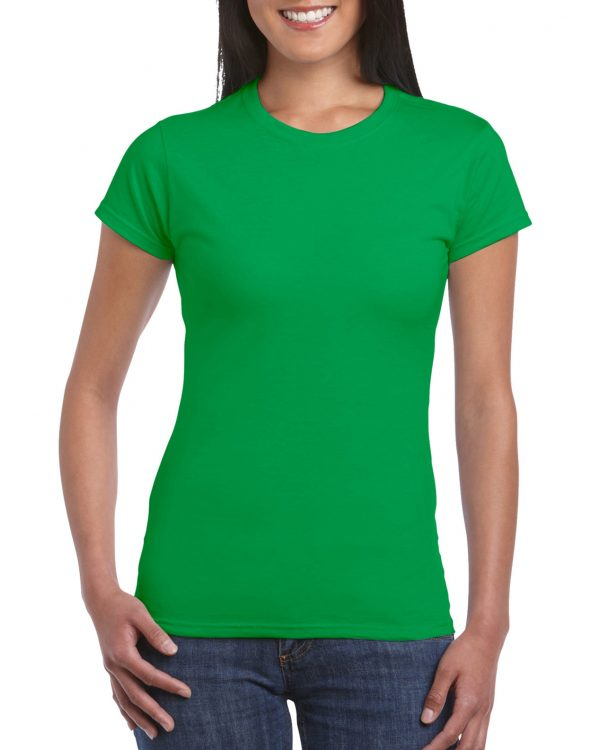 Gildan Softstyle Ladies' T-Shirt Irish Green Large (64000L) 1 | | Promotion Wear