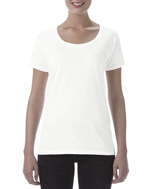 Gildan Ladies Deep Scoop Tee White Small (64550L) 1 | | Promotion Wear