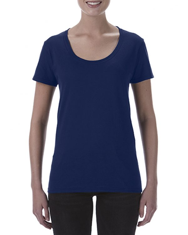 Gildan Ladies Deep Scoop Tee Navy Medium (64550L) 1 | | Promotion Wear