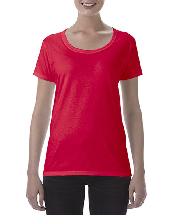 Gildan Ladies Deep Scoop Tee Red Xlarge (64550L) 1 | | Promotion Wear