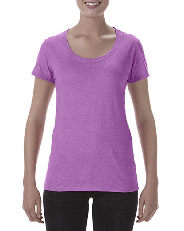 Gildan Ladies Deep Scoop Tee Heather Radiant Orchid Small (64550L) 1 | | Promotion Wear