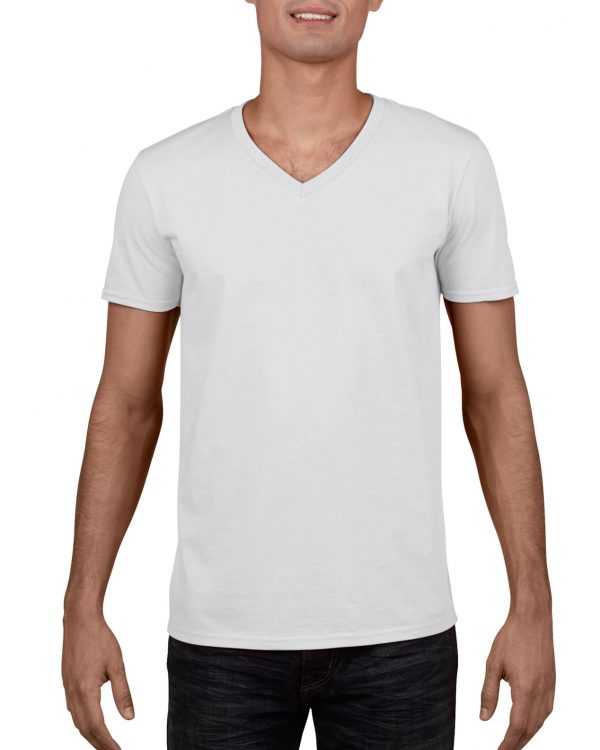 Gildan Sofystyle Adult V-Neck T-Shirt White Small (64V00) 1 | | Promotion Wear