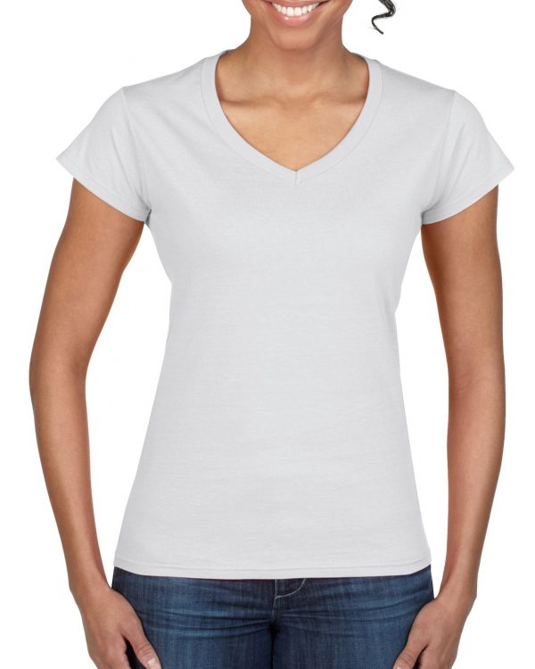 Gildan Softstyle Ladies' V-Neck T-Shirt White Medium (64V00L) 1 | | Promotion Wear