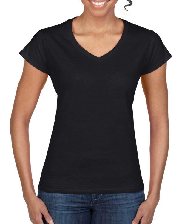 Gildan Softstyle Ladies' V-Neck T-Shirt Black Large (64V00L) 1 | | Promotion Wear