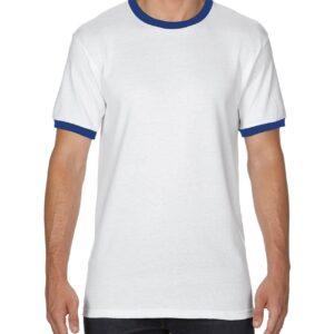 Gildan Adult Ringer T-Shirt White/Royal 2Xlarge (8600) 4 | | Promotion Wear