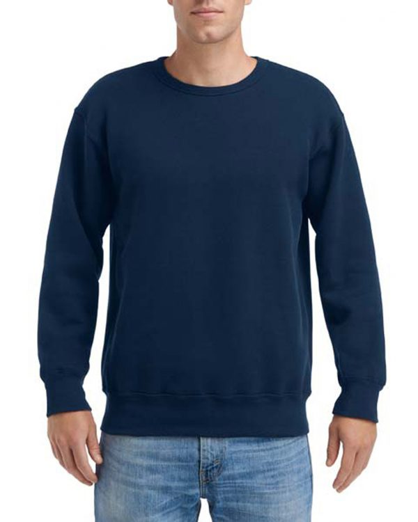 Gildan Hammer Fleece Adult Crew Sport Dark Navy 2Xlarge (HF000) 1 | | Promotion Wear