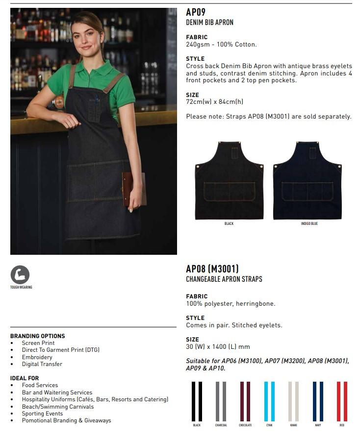 AP09 East Village Denim Bib Apron 2 | | Promotion Wear