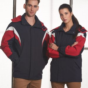 JK28 BATHURST Tri-colour Jacket With Hood Unisex