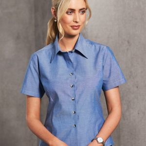 BS05 Ladies Chambray Short Sleeve