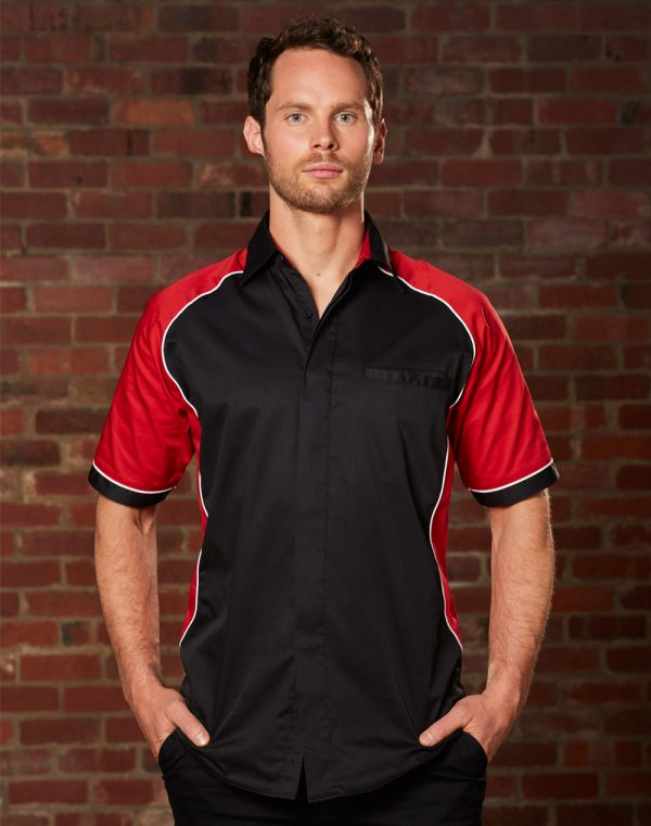 BS15 Men's Arena Tri-colour Contrast Shirt 1 | | Promotion Wear