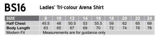 BS16 Women's Arena Tri-colour Contrast Shirt