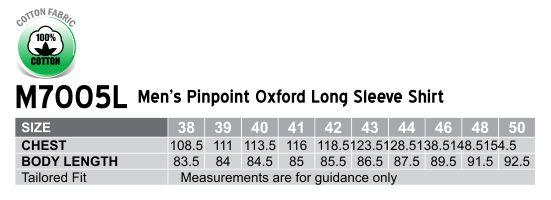 M7005L Men's Pinpoint Oxford Long Sleeve Shirt
