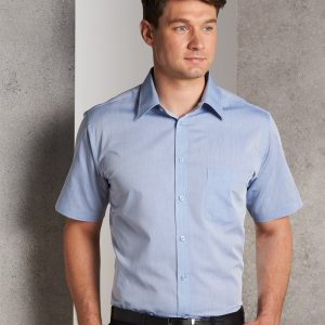 M7011 Men's Fine Chambray Short Sleeve Shirt